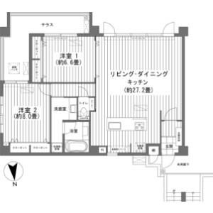 2LDK {building type} in Yohena - Nago-shi Floorplan