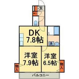 2DK Mansion in Kameari - Katsushika-ku Floorplan