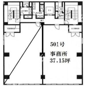 Office - Commercial Property in Yokohama-shi Naka-ku Floorplan