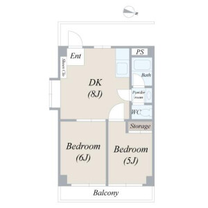 2DK Mansion in Nishioi - Shinagawa-ku Floorplan