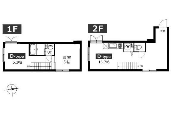 2LDK Apartment to Rent in Ota-ku Exterior