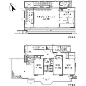 足柄下郡箱根町仙石原-4LDK{building type} 楼层布局