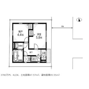 4LDK {building type} in Tsutsumidori - Sumida-ku Floorplan