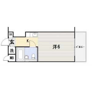 1R {building type} in Ebisuminami - Shibuya-ku Floorplan
