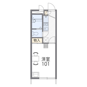 1K Apartment in Nakaotai - Nagoya-shi Nishi-ku Floorplan