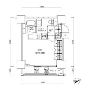 1R Mansion in Nishishimbashi - Minato-ku Floorplan
