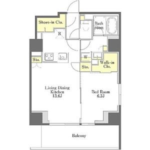 1LDK Mansion in Egota - Nakano-ku Floorplan