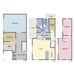 4SLDK {building type} in Matsugaoka - Chigasaki-shi Floorplan