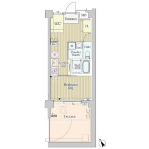 1SK Mansion in Jingumae - Shibuya-ku Floorplan
