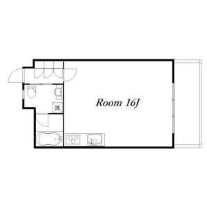 1R Mansion in Ebisuminami - Shibuya-ku Floorplan