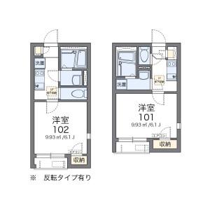 1K Apartment in Omiya - Suginami-ku Floorplan