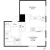 1LDK Apartment to Rent in Kokubunji-shi Floorplan