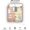 3K Serviced Apartment to Rent in Osaka-shi Kita-ku Floorplan