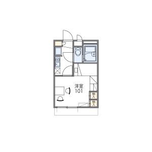 1K Apartment in Nishikawa - Amagasaki-shi Floorplan