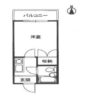 1K Mansion in Miyahara - Osaka-shi Yodogawa-ku Floorplan