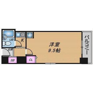 1K Apartment in Oyodominami - Osaka-shi Kita-ku Floorplan