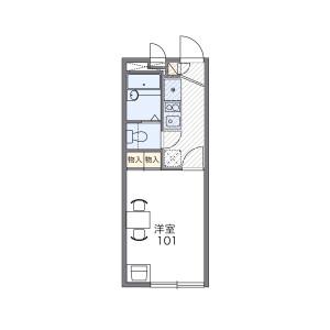 1K Apartment in Tashiden - Daito-shi Floorplan