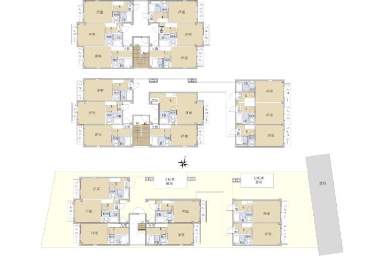 Whole Building Apartment to Buy in Fukuoka-shi Minami-ku Floorplan