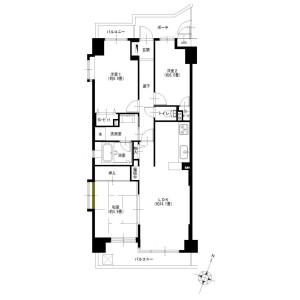 3LDK {building type} in Inukura - Kawasaki-shi Miyamae-ku Floorplan