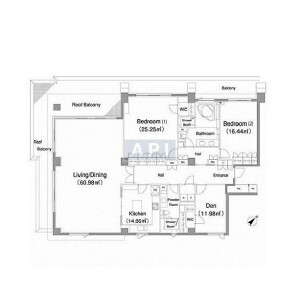 2SLDK Apartment in Akasaka - Minato-ku Floorplan