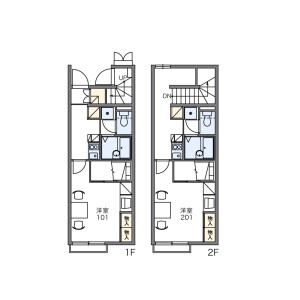 1K Apartment in Kasahata - Kawagoe-shi Floorplan