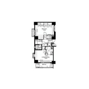 1LDK Apartment in Higashigotanda - Shinagawa-ku Floorplan