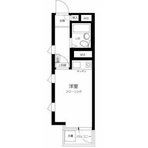 1R Mansion in Okubo - Shinjuku-ku Floorplan