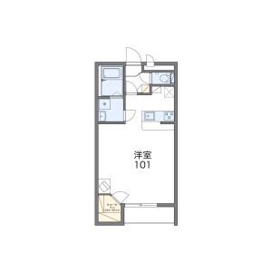 大阪市東住吉区照ケ丘矢田-1K公寓大厦 楼层布局