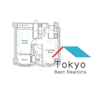 新宿區百人町-1LDK公寓大廈 房間格局