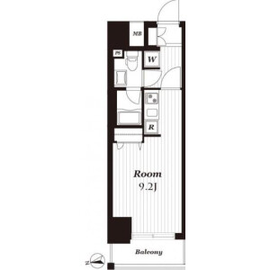 1R {building type} in Asakusabashi - Taito-ku Floorplan