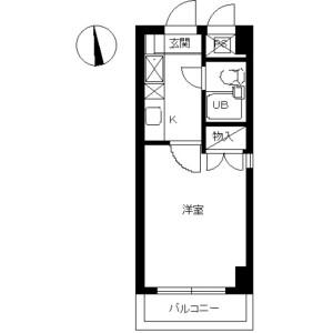 1R Mansion in Yatsuka kamicho - Soka-shi Floorplan