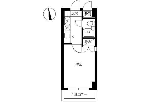 1R Apartment to Rent in Soka-shi Floorplan