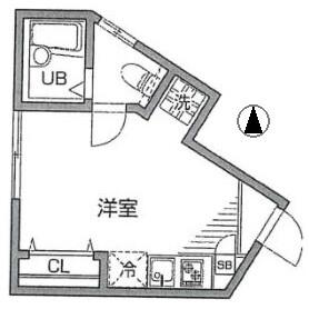 1R Apartment in Sakurashimmachi - Setagaya-ku Floorplan
