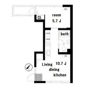 1DK Mansion in Mukogaoka - Bunkyo-ku Floorplan
