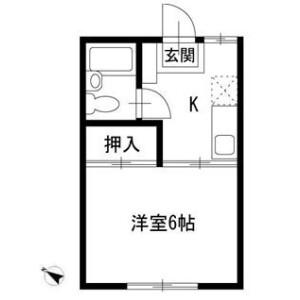 横浜市磯子区 杉田 1K アパート 間取り
