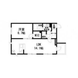 1LDK Mansion in Samoncho - Shinjuku-ku Floorplan