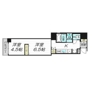 1LDK Mansion in Minamikyuhojimachi - Osaka-shi Chuo-ku Floorplan