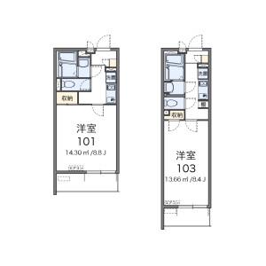 1K Mansion in Higashihommachi - Amagasaki-shi Floorplan