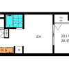 1LDK Apartment to Buy in Ota-ku Floorplan