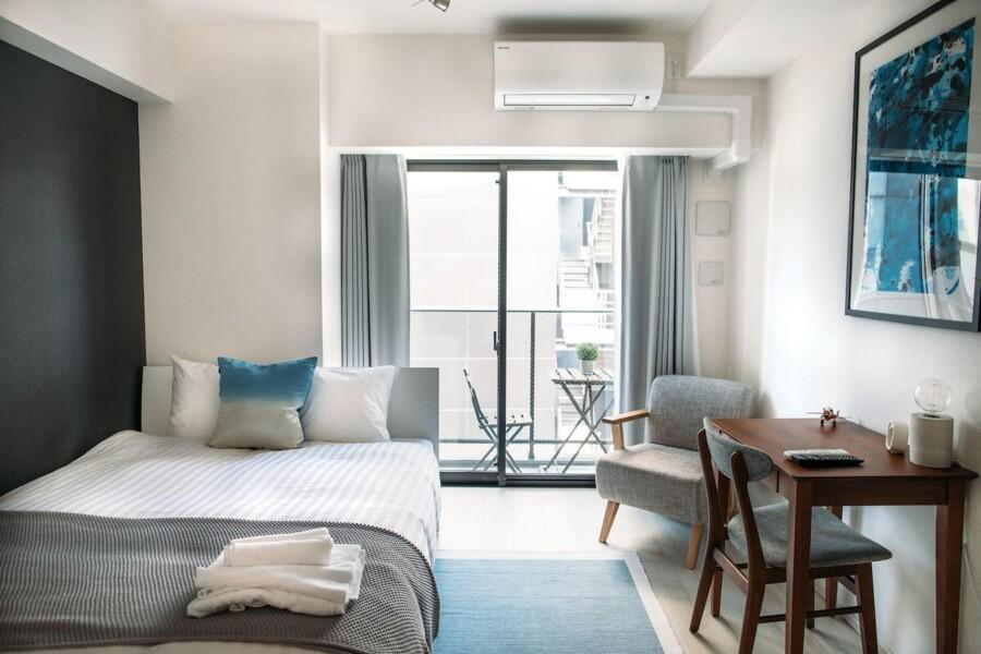 在Chuo-ku内租赁1K 简易式公寓 的 卧室