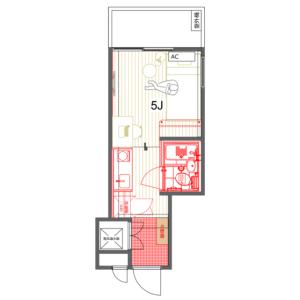 1R Mansion in Ginza - Chuo-ku Floorplan