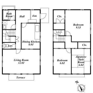 3LDK House in Takadanobaba - Shinjuku-ku Floorplan