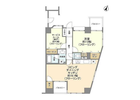 1SLDK Apartment to Rent in Bunkyo-ku Floorplan