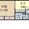 1DK Apartment to Rent in Kyoto-shi Nakagyo-ku Floorplan