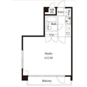 1K Mansion in Maruyamacho - Shibuya-ku Floorplan