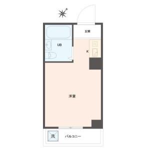 1R Apartment in Sannoshita - Tama-shi Floorplan