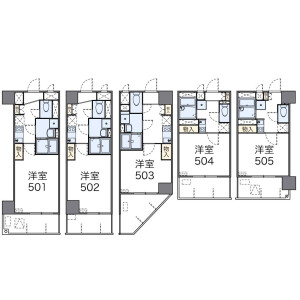 1K Mansion in Akebonocho - Yokohama-shi Naka-ku Floorplan
