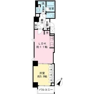 1LDK Mansion in Haraikatamachi - Shinjuku-ku Floorplan