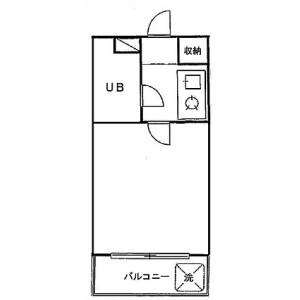 1R Apartment in Kashiwai - Chiba-shi Hanamigawa-ku Floorplan