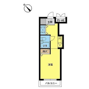 1R Mansion in Kitami - Setagaya-ku Floorplan